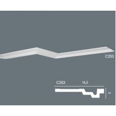 Карниз с гладким профилем C353